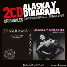 CDs de Música: ALASKA Y DINARAMA CANCIONES PROFANAS / DESEO CARNAL (2 CDS) NUEVO Y PRECINTADO. Lote 195195153