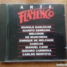 CDs de Música: ARTE FLAMENCO ORBIS. ANTOLOGÍA DE GUITARRISTAS. MANOLO SANLÚCAR ENRIQUE DE MELCHOR (CD). Lote 195196748