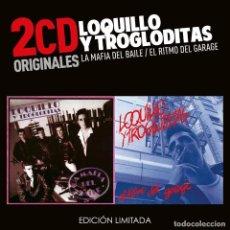 CDs de Música: LOQUILLO Y LOS TROGLODITAS LA MAFIA DEL BAILE / EL RITMO DEL GARAJE (2 CDS) NUEVO Y PRECINTADO. Lote 195198223