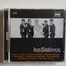 CDs de Música: DOBLE CD RECOPILATORIO LOS 5 CINCO LATINOS - PARA VIGO ME VOY - MUY RARO - SELECCION 5 ESTRELLAS. Lote 195199116
