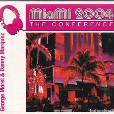 CDs de Música: GEORGE MOREL & DANNY MARQUEZ,MIAMI 2004 THE CONFERENCE EDICION ESPAÑOLA DOBLE CD DIGIPACK. Lote 195215926