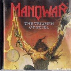 CDs de Música: MANOWAR : THE TRIUMPH OF STEEL : EDICION ORIGINAL ALEMANIA 1992 ATLANTIC. Lote 195217791