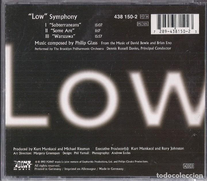 CDs de Música: PHILIP GLASS : LOW SYMPHONY (FROM MUSIC OF DAVID BOWIE & BRIAN ENO) - CD ALEMANIA 1993 POINT MUSIC - Foto 2 - 195225533