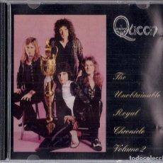 CDs de Música: QUEEN : UNOBTAINABLE ROYAL CHRONICLE VOL. 2 - CD NO OFICIAL 18 TEMAS - 1995 FREDDY BULSARA MEMORIAL. Lote 195227025