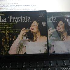 CDs de Música: VERDI DOBLE CD LA TRAVIATA CABALLE VERGONZI. Lote 195229156