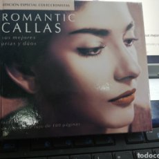 CDs de Música: ROMÁNTIC CALLAS DOBLE CD CON LIBRETO SUS MEJORES ARIAS DUOS. Lote 195229445