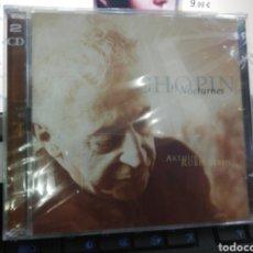 CDs de Música: ARTHUR RUBINSTEIN DOBLE CD CHOPIN 19 NOCTURNES PRECINTADO. Lote 195229705