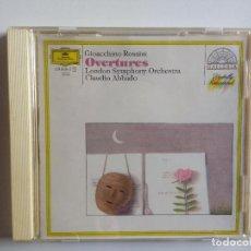 CDs de Música: CD GIOACCHINO ROSSINI, LONDON SYMPHONY ORCHESTRA CLAUDIO ABBADO – OVERTURES DEUTSCHE GRAMMOPHON. Lote 195231250
