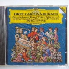 CDs de Música: CD ORFF CARMINA BURANA JAMES LEVINE JUNE ANDERSON · BERND WEIKL · CHICAGO SYMPHONY ORCHESTRA. Lote 195231791