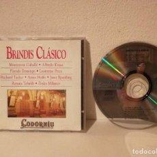 CDs de Música: CD ORIGINAL - BRINDIS CALSICO - OPERA - PLACIDO DOMINGO - MONTSERRAT CABALLE - CODORNIU. Lote 195247860