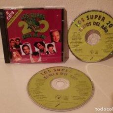 CDs de Música: CD ORIGINAL DOBLE - LOS SUPER 20 EXITOS DEL AÑO - MIX - MIGUEL BOSE - ALEJANDRO SANZ - REVOLVER. Lote 195247898