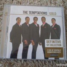 CDs de Música: DOBLE CD. THE TEMPTATIONS. GOLD. LIBRETO. MUY BUENA CONSERVACION. Lote 195262517