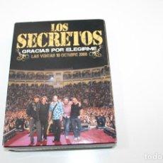 CDs de Música: LOS SECRETOS GRACIAS POR ELEGIRME - LAS VENTAS 2008 - 2 CD Y 2 DVD. Lote 195300903