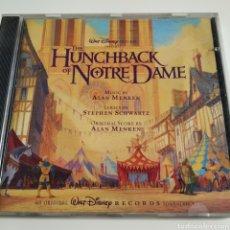 CDs de Música: HE HUNCHBACK OF NOTRE DAME - WALT DISNEY RECORDS – 60893-7 – USA - JOROBADO DE NOTRE DAME - DIFÍCIL. Lote 195301661