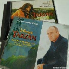 CDs de Música: PHIL COLLINS - TARZAN - ORIGINAL WALT DISNEY - 1999 + SINGLE CD PROMO YOU'LL BE IN MY HEART TRANSP.. Lote 195303450