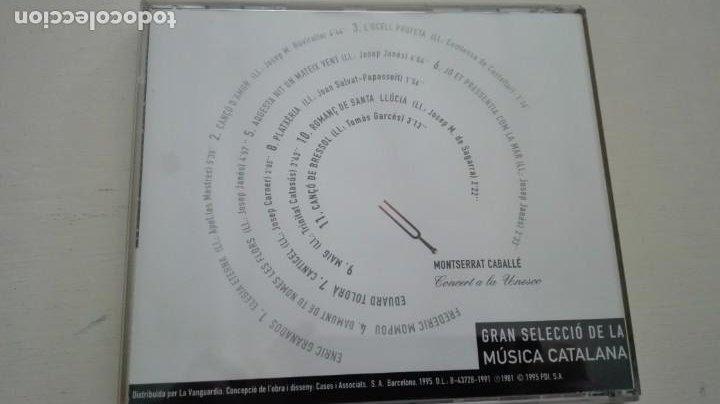 CDs de Música: Montserrat Caballé CD Concert a la Unesco Caja de Madrid La Vanguardia 1995 - Foto 2 - 195311848
