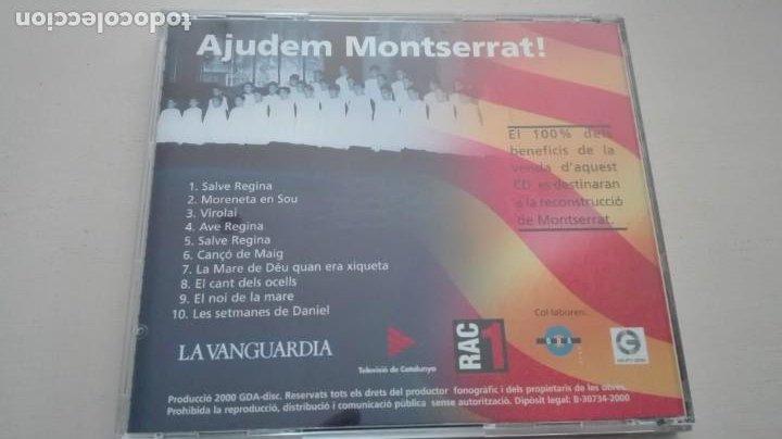 CDs de Música: Ajudem Montserrat CD Les millors cançons de lEscolania - Foto 2 - 195319461
