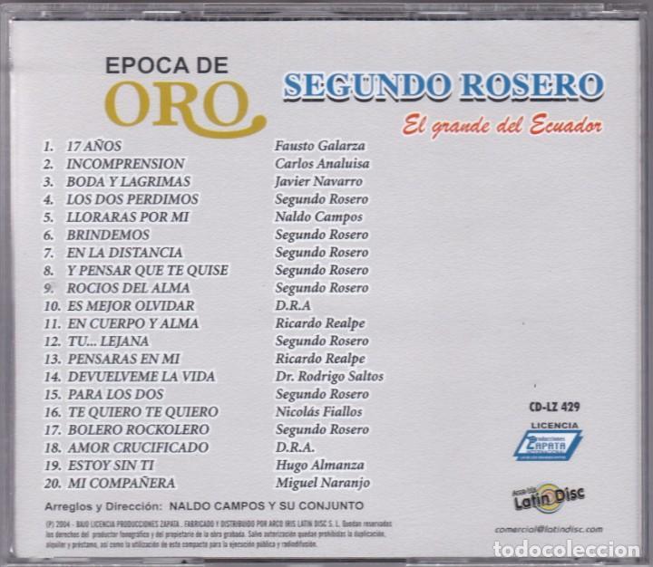 CDs de Música: segundo rosero,epoca de oro - Foto 2 - 195328452