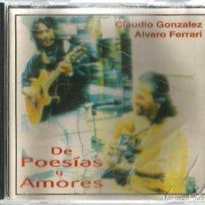 CDs de Música: CD CLAUDIO GONZALEZ & ALVARO FERRARI : TEMAS DE BILLY JOEL, SERRAT, SILVIO RODRIGUEZ, LUIS GIECO ETC. Lote 195330798