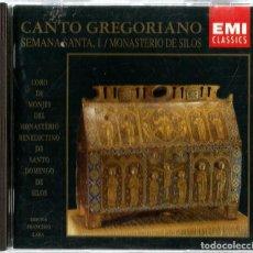 CDs de Música: CD CORO DE MONJES DEL MONASTERIO DE SANTO DOMINGO DE SILOS : CANTO GREGORIANO : SEMANA SANTA . Lote 195331037