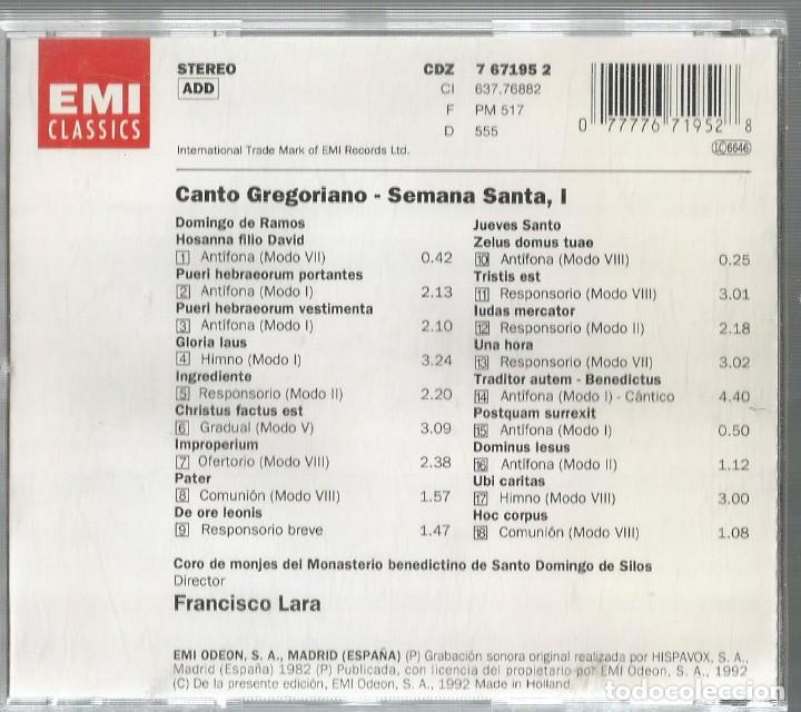 CDs de Música: CD CORO DE MONJES DEL MONASTERIO DE SANTO DOMINGO DE SILOS : CANTO GREGORIANO : SEMANA SANTA - Foto 2 - 195331037