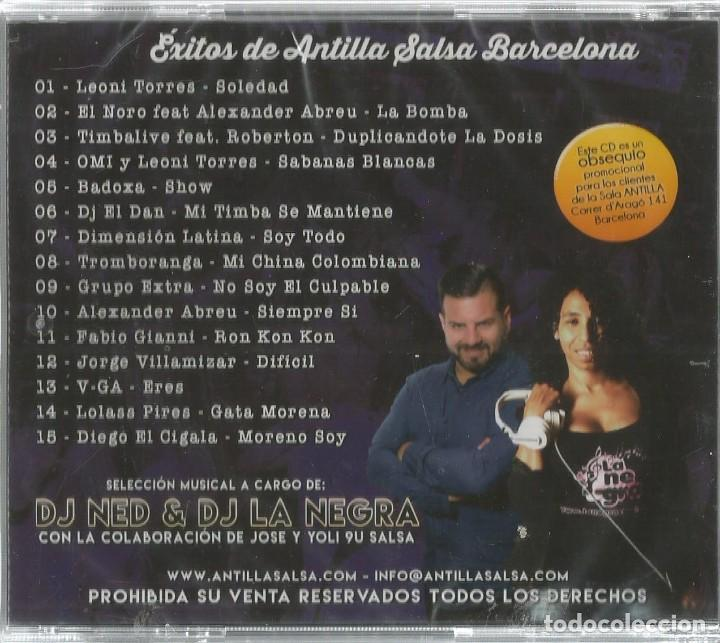CDs de Música: CD ANTILLA SALSA BARCELONA / 18 ANIVERSARIO EL CANVI ( LEONI TORRES, EL NORO, TIMBALIVE, DJ EL DAN - Foto 2 - 195331685