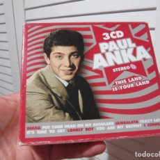 CDs de Música: PAUL ANKA THIS IS YOUR LAND (3-CD) . Lote 195341911