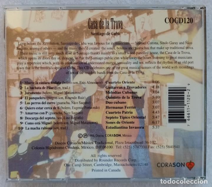 CDs de Música: VARIOS - CASA DE LA ROVA (SANTIAGO DE CHILE) - CD 1993 - CORASON - Foto 3 - 195357098