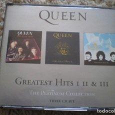 CDs de Música: TRIPLE CD. QUEEN. GREATEST HITS 1 2 3. BUENA CONSERVACION. Lote 195362202