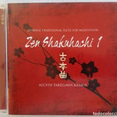 CDs de Música: ALCVIN TAKEGAWA RAMOS - ZEN SHAKAHACHI 1 JAPANESE TRADITIONAL FLUTE FOR MEDITATION - CD 2007 - OLIVE. Lote 195362513