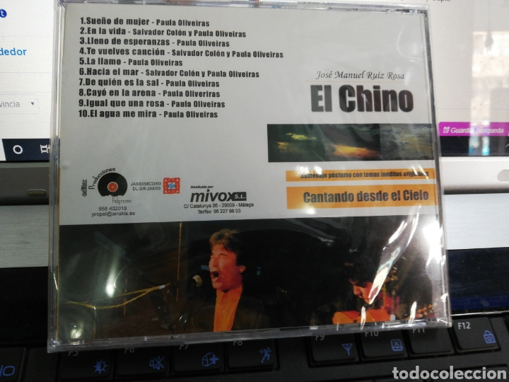 CDs de Música: José Manuel Ruiz Rosa El chino CD cantando desde el cielo precintado - Foto 2 - 195372905