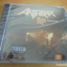 CDs de Música: RAR CD. ANTHRAX. LIVE. THE ISLAND YEARS SEALED. PRECINTADO. Lote 195397982