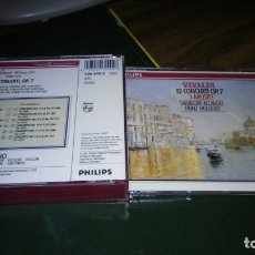 CDs de Música: VIVALDI - 12 CONCIERTOS OP. 7 PARA VIOLIN, CUERDAS Y CONTINUO (I MUSICI, ACCARDO, HOLLIGER) 2CD . Lote 195407187