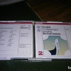 CDs de Música: VIVALDI - 12 CONCIERTOS OP. 8. IL CIMENTO DELL'ARMONIA E DELL'INVENTIONE (I MUSICI, FELIX AYO) 2CD . Lote 195407252