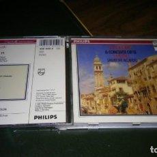 CDs de Música: VIVALDI - 6 CONCIERTOS OP. 11 PARA VIOLIN, CUERDAS Y CONTINUO (I MUSICI, SALVATORE ACCARDO) 1CD. Lote 195407601