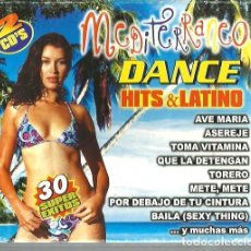 CDs de Música: DOBLE CD MEDITERRANEO : DANCE HITS & LATINO ( AVE MARIA, ASEREJE, QUE LA DETENGAN, TORERO, ETC ). Lote 195407790