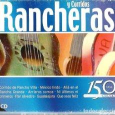 CDs de Música: DOBLE CD CORRIDOS Y RANCHERAS ( CANTA JORGE NEGRETE, JOSE ALFREDO JIMENEZ, CHAVELA VARGAS, ETC. Lote 195408303