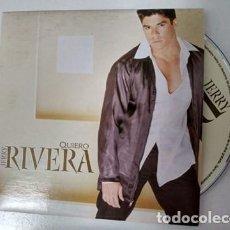 CDs de Música: JERRY RIVERA QUIERO.SINGLE. DISCO PROMOCIONAL.SINGLE. CD. Lote 195410402