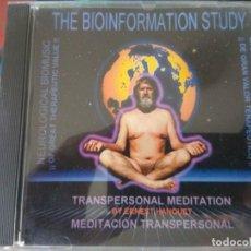 CDs de Música: THE BIOINFORMATION STUDY - MEDITACIÓN TRANSPERSONAL. Lote 195421958