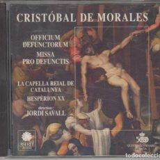 CDs de Música: CRISTÓBAL DE MORALES CD OFFICIUM DEFUNCTORUM MISSA PRO DEFUNCTIS 1992 JORDI SAVALL. Lote 195436567