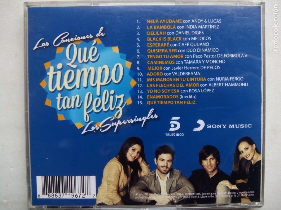 CDs de Música: LOS SUPERSINGLES. LAS CANCIONES DE QUÉ TIEMPO TAN FELIZ. CD SONY MUSIC 88883719672. ESPAÑA 2013. - Foto 4 - 195438357