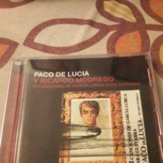 CDs de Música: PACO DE LUCÍA Y RICARDO MODREGO. 12 CANCIONES DE GARCIA LORCA. EDICION DE 2095. Lote 195444455