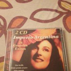 CDs de Música: DOBLE CD DE IMPERIO ARGENTINA. 24 GRANDES EXITOS. EDICION DE 2001.. Lote 195445756