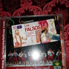 CDs de Música: CARNAVAL DE CÁDIZ CD CHIRIGOTA LOS FALSOS 2010. Lote 195460636