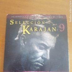 CDs de Música: SELECCIÓN KARAJAN 9 FILARMÓNICA DE BERLÍN SINFÓNICA DE TURÍN. Lote 195479416