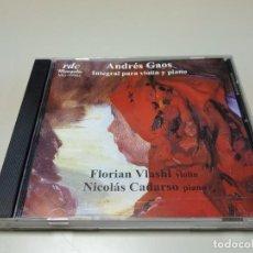 CDs de Música: 0220- ANDRES GAOS INTEGRAL PARA VIOLIN Y PIANO CD (DISCO NUEVO ) LIQUIDACIÓN !!. Lote 195486050