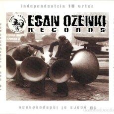 CDs de Música: ESAN OZENKI -INDEPENDENTZIA 10 URTEZ 2001 DOBLE CD MAS DOS LIBRETOS Y CAJA EXTERNA PUNK HIP HOP HC. Lote 195497828
