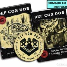 CDs de Música: FIRMADO - DEF CON DOS - GILIPOLLAS NO TIENE.... CD+LIBRO 200 PAG -NUEVO Y PRECINTADO. Lote 195499583
