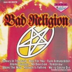 CDs de Música: BAD RELIGION - LIVE & ALIVE CD 1993 RARO DIRECTO NO OFICIAL -BUEN SONIDO Y CON HASTA 27 TEMAS -PUNK. Lote 195504745