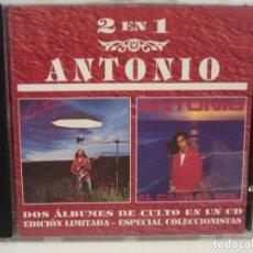 CDs de Música: ANTONIO FLORES - ANTONIO / AL CAER EL SOL - DOS ÁLBUMES EN UN CD - 1995 - ED. LIMITADA - EX+/EX+. Lote 195530708